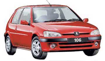 Essieu arrière Peugeot 106