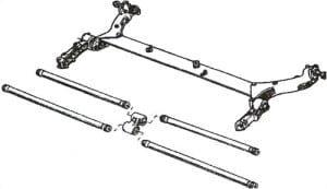 Barre de torsion gauche Renault Kangoo rond, tubulaire